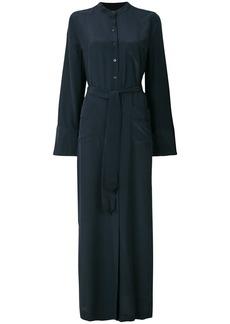 Equipment tie waist shirt maxi dress - Blue