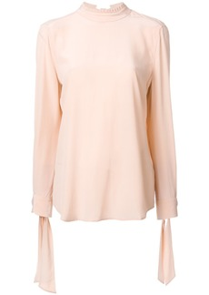 Equipment tied neck and sleeve blouse - Pink & Purple