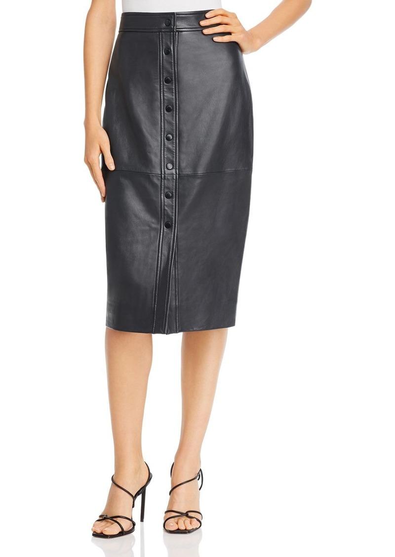 Equipment Violette Leather Pencil Skirt