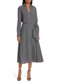 Equipment Vivienne Faux Wrap Midi Dress
