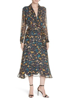 Equipment Vivienne Silk Midi Dress