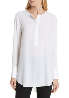 Equipment Windsor Half Placket Silk Blouse