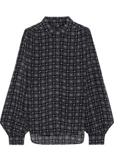 Equipment Woman + Tabitha Simmons Marcilly Printed Crepe De Chine Shirt Black