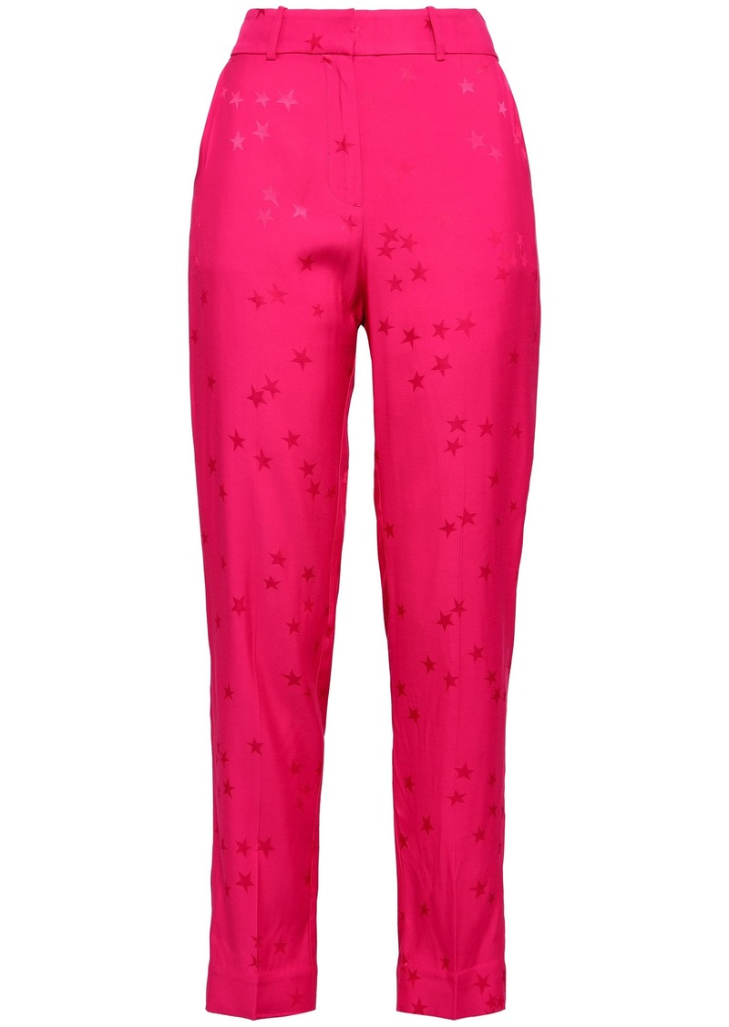Equipment Woman + Tabitha Simmons Warsaw Jacquard Tapered Pants Fuchsia