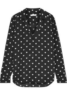 Equipment Woman Adalyn Printed Crepe De Chine Shirt Black