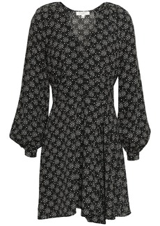 Equipment Woman Alexandria Printed Silk Crepe De Chine Mini Dress Black