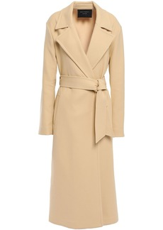 Equipment Woman Alyssandra Belted Cotton-blend Twill Trench Coat Beige