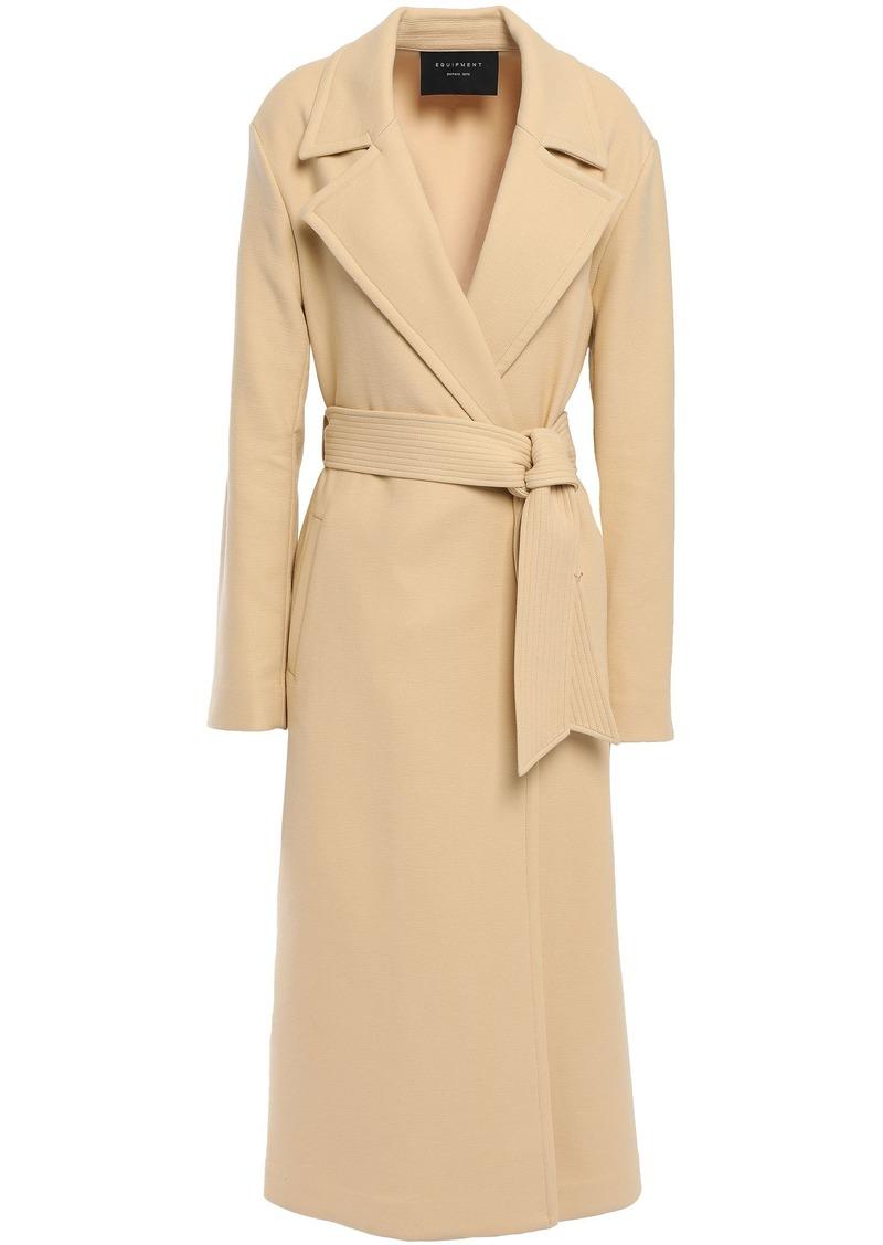 Equipment Woman Alyssandra Belted Cotton-blend Twill Trench Coat Beige
