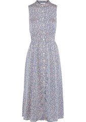 Equipment Woman Andrinna Printed Washed-satin Midi Dress Azure
