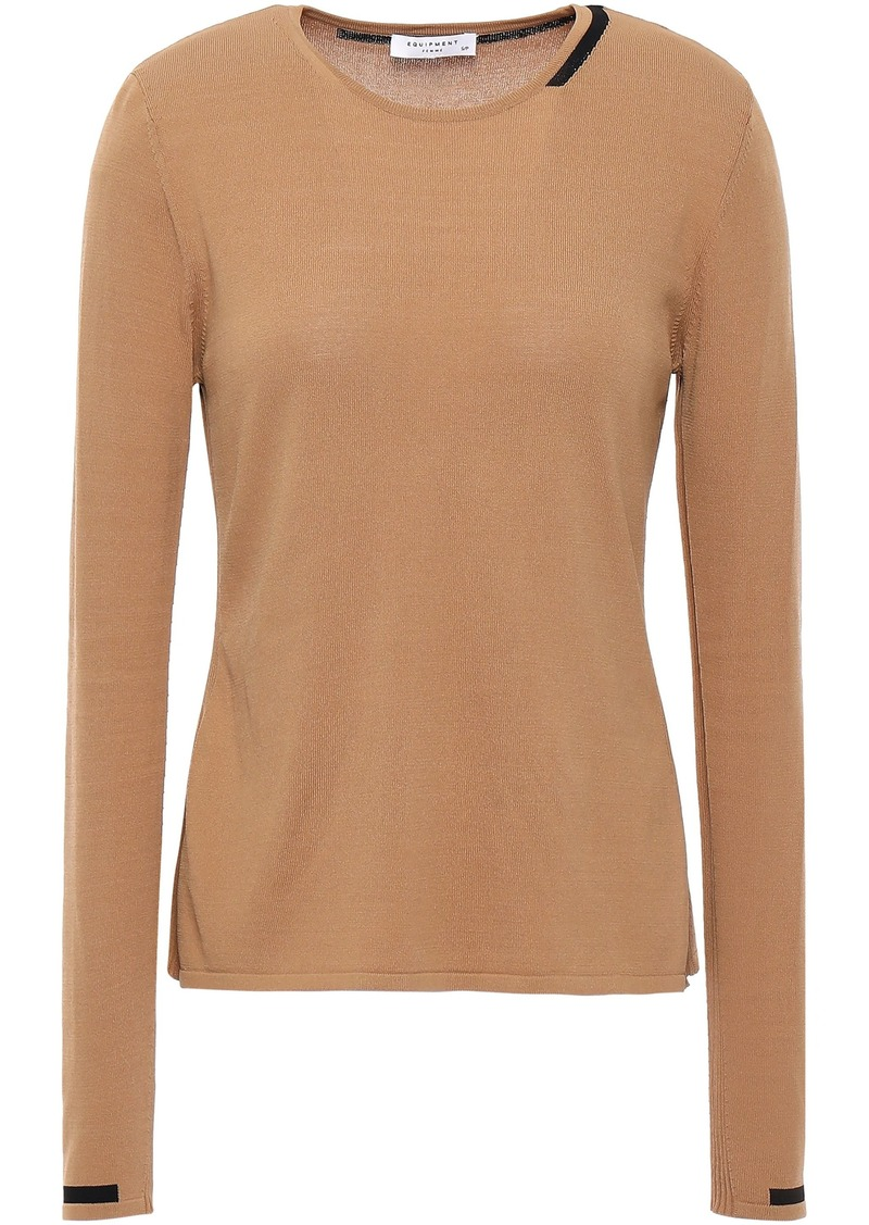 Equipment Woman Ansie Knitted Sweater Camel