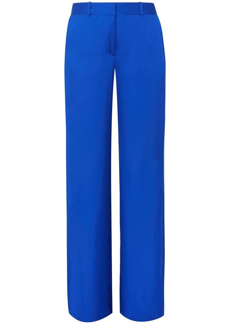 Equipment Woman Arwen Satin Wide-leg Pants Bright Blue