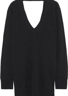 Equipment Woman Asher Open-back Wool And Cashmere-blend Sweater Black