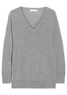 Equipment Woman Asher Oversized Mélange Cashmere Sweater Gray