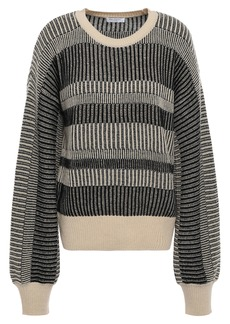 Equipment Woman Aubin Wool And Cashmere-blend Jacquard Sweater Black