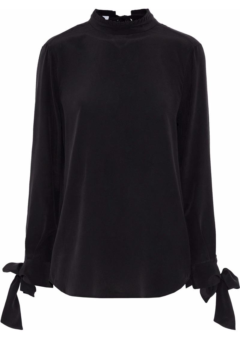 Equipment Woman Aurora Washed-silk Blouse Black