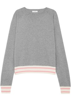 Equipment Woman Axel Mélange Cotton-blend Sweater Gray