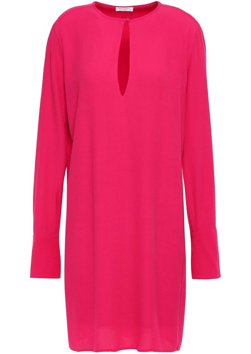 Equipment Woman Bonnie Crepe Mini Dress Bright Pink