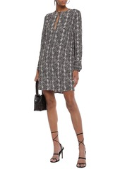 Equipment Woman Bonnie Snake-print Washed-crepe Mini Dress Animal Print
