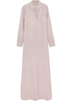 Equipment Woman Brett Gingham Washed-silk Maxi Dress Antique Rose