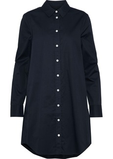 Equipment Woman Carmine Cotton-poplin Mini Shirt Dress Midnight Blue