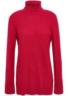 Equipment Woman Mélange Cashmere Turtleneck Sweater Claret