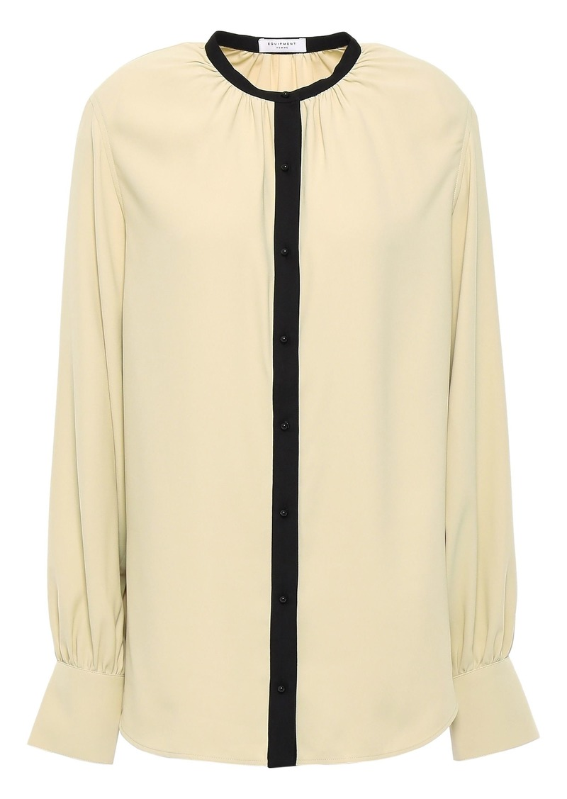 Equipment Woman Causette Crepe Blouse Beige