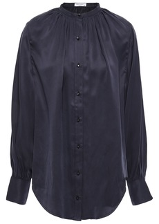 Equipment Woman Causette Washed Silk-blend Satin Blouse Midnight Blue