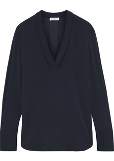 Equipment Woman Charlina Stretch-crepe Blouse Midnight Blue