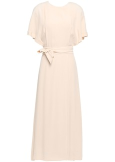 Equipment Woman Chemelle Bow-detailed Washed-crepe Midi Dress Beige