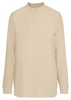 Equipment Woman Cherine Washed-crepe Shirt Beige