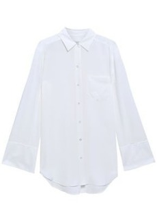 Equipment Woman Coco Oversized Silk Crepe De Chine Shirt White