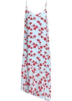 Equipment Woman Cool Breeze Floral-print Silk Crepe De Chine Midi Dress Sky Blue