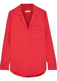 Equipment Woman Crepe De Chine Shirt Tomato Red