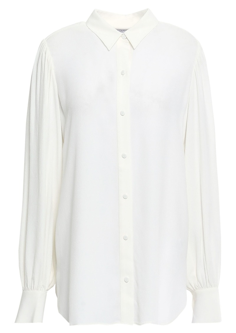 Equipment Woman Danton Washed-crepe Shirt Off-white