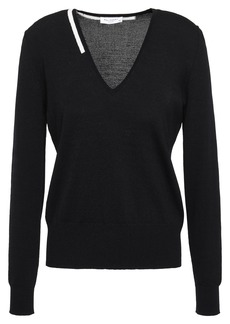 Equipment Woman Demia Stretch-knit Sweater Black