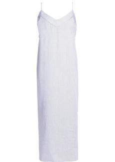 Equipment Woman Dian Striped Cotton-poplin Midi Dress White