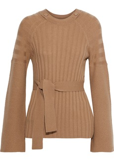 Equipment Woman Dorise Ribbed Wool And Cashmere-blend Sweater Camel