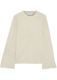 Equipment Woman Emmaline Ribbed Wool And Cashmere-blend Sweater Pastel Orange