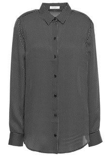 Equipment Woman Essential Checked Crepe De Chine Shirt Black