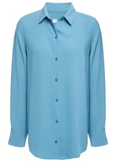 Equipment Woman Essential Washed-crepe Shirt Light Blue