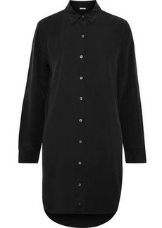 Equipment Woman Essential Washed-silk Mini Shirt Dress Black