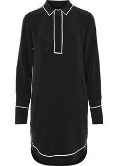 Equipment Woman Felix Washed-silk Mini Shirt Dress Black