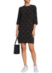 Equipment Woman Floral-print Silk Crepe De Chine Mini Dress Black