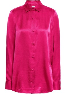 Equipment Woman Hammered-satin Shirt Magenta