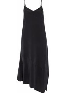 Equipment Woman Jada Asymmetric Washed-silk Midi Slip Dress Black