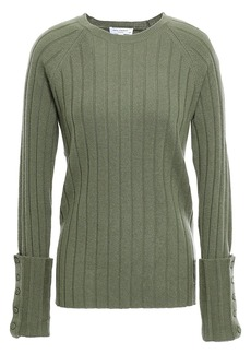 Equipment Woman Joella Ribbed Wool And Cashmere-blend Sweater Army Green