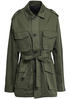 Equipment Woman Kamille Stretch-cotton Gabardine Jacket Army Green