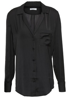 Equipment Woman Kiera Crepe De Chine Shirt Black