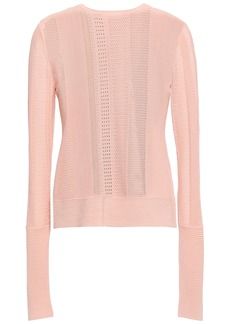 Equipment Woman Laurier Pointelle-knit Sweater Blush