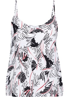 Equipment Woman Layla Printed Washed-silk Camisole White